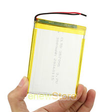 "NEW 3.7V/1A 3000 mAh Polymer Li ion battery For GPS DVD Camera 7"" Tablet"