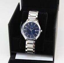 NEW AUTHENTIC BULOVA SILVER BLUE MEN'S 96B266 WATCH