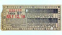 1918 Washington, DC Capital Traction Company Streetcar Ticket