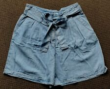 NWT COUNTRY ROAD Chambray Blue High Rise Flippy Shorts Ladies Size 12 $120 NEW