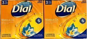 Dial Marula Oil Bar Soap, 4 oz bars, 3 Ea (Pack of 2)