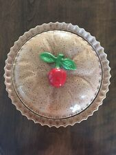Regent Gallery Handmade Vintage 1992 Ceramic Pie Plate Keeper Server With Lid