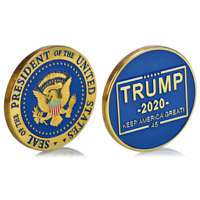 Donald J Trump 2020 Keep America Great! Presidential Gold plating Challenge Coin