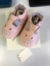 Baby Boden 0-3 Months Pink Pig Shoes NIB