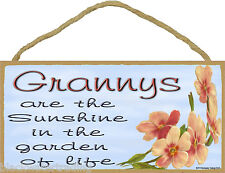 "Dogwood Grannys Are The Sunshine In The Garden Of Life SIGN Plaque 5""X10"" Granny"