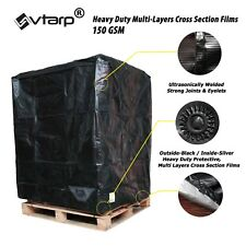 vtarp ®  UK EU Pallet Cover 150 GSM Heavy Duty Waterproof Fitted Reusable Cover