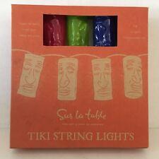 Plastic String 10 Tiki God Blow Mold Lights Camping Lanterns Patio RV Yard Party