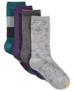 GOLD TOE 4 Pack Premier Womens Socks Check Floral Asst 4 Pair $18 - NWT