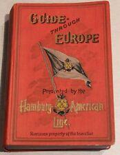 Hamburg American Line - Guide Through Europe 1907