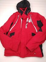 Spyder boys youth Red Insulated Hooded zip off Sleeves Snow Jacket Sz 14 L HU