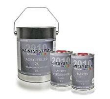 2K Acryl Füller SET, HELLGRAU 6kg - Acrylfüller inkl. Härter & Verdünner - 4+1+1