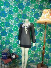 AF23 Ted Baker Dress Black Sheer Size UK 6