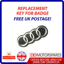 1X AUDI KEY FOB REMOTE LOGO EMBLEM BADGE STICKER FOR A1 A2 A3 A4 A6 A8 TT