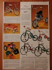 1966 Vintage PAPER PRINT AD Moto-Trike bicycle tricycle tractor wagon pool table