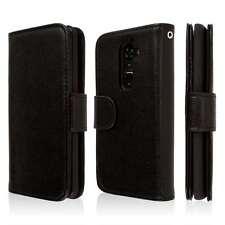 EMPIRE KLIX Genuine Leather Wallet Case for LG G2 - Textured Black