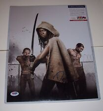 "WALKING DEAD ** MICHONNE DANAI GURIRA SIGNED 14"" X 11"" ** PSA DNA AUTHENTICATED"