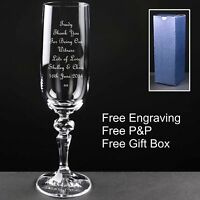 Personalised Champagne Flute, Witness Gift Favour