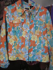 1/2 OFF!! Nicole Miller Short Jacket with Autumn leaves & Flowered design Sz 14