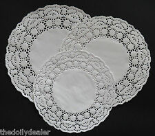 """MAGNOLIA"" X 30 ASSORTED SIZES PAPER LACE DOILIES  9.5"" + 8.5"" + 7.5"""