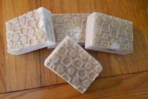 NEW TRIPLE BUTTER SOAP BAR (cocoa,shea & mango butter) Big 6oz's BARS-- OATMEAL