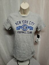 Adidas New York City Football Club Girls Large Size 14 Gray TShirt