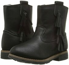 New Girls Carter's Black Boots Apache Black Tassel 5 6