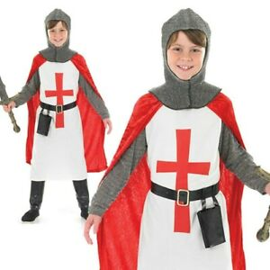 Boys Knight Costume Child St George Crusader Book Week Fancy Dress Outfit Kids