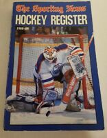 1988-89 THE  SPORTING NEWS NHL HOCKEY REGISTER GRANT FUHR COVER
