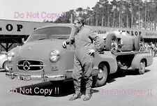 Mercedes Benz W196 F1 Coche & Transportador Nurburgring 1955 fotografía 2