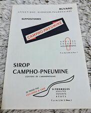 Buvard ancienne pub pour Campho Pneumine  sirop et suppo