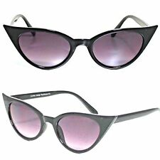 BLACK Cat Eye occhiali da sole retrò vintage stile Rockabilly #RF 173 50s 60s