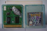 Pokemon Crystal Version Nintendo Gameboy original game boy New Battery PAL 2001