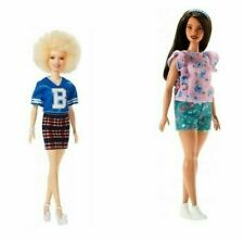 New Listing2 Barbie Fashionistas Dolls Curvy Floral Frills Fjf43 Varsity Plaiditude Fjf51