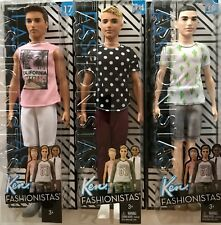 3 Barbie Ken Fashionistas Dolls #14 Black/White #16 Cactus Cooler #17 Cali Cool