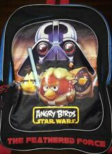 "Angry Birds Star Wars 16"" School Backpack With Bonus Clip On Name Tag NWT"