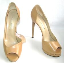 NICHOLAS KIRKWOOD Roadie stilleto 13 cm PIN UP de cuero camel 39