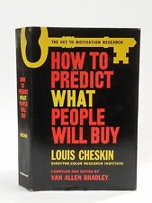 How to Predict What People Will Buy 1st edition 1957 Louis Cheskin