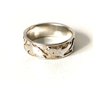 Solid Sterling Silver Dolphin Band Ring : O