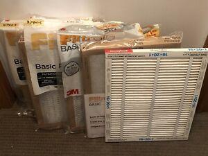 9 Pleated Furnace Filters 16X20X1: Filtrete Basic 3M, Honeywell Allergen Defense