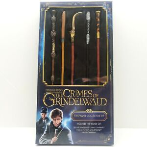 Fantastic Beasts The Crimes Of Grindelwald Five Wand Collector Set, NEW!