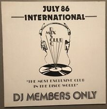 JULY 86 INTERNATIONAL DISCO MIX CLUB DMC DJ MEMBERS ONLY UK VINYL