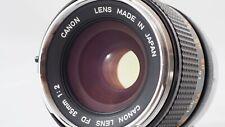 MINT! Canon FD 35mm f/2 chrome nose/concave front element manual-focus lens