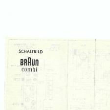 Braun Original Service Schaltplan für RF Combi