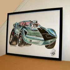 Corvette Stingray Vette Chevrolet Chevy Car Racing Poster Print Wall Art 18x24