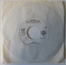 """a-ha-Hunting High And Low-W6663-Vinyl-7""""-Single-Record-45-1980s"""