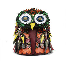 e4603cdcde6b Burberry Beasts The Owl Multicoloured Leather Snakeskin Charm Coin Pouch