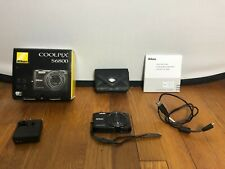 Nikon COOLPIX S6800 16.0 MP Wifi Full HD Digital Camera Black BUNDLE