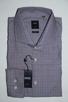 HUGO BOSS TAILORED BUSINESSHEMD, Mod. Christo, Gr. 44, Slim Fit, Medium Purple