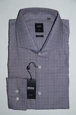 Hugo Boss Tailored Businesshemd Gr. 44 Slim Fit Medium Purple