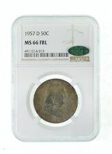 MS66 CAC FBL 1957-D Franklin Half Dollar - Graded NGC *820